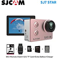Sport Action Camera, Newest Original SJCAM SJ7 Star 1080P 4K Action Cam Waterproof Sport DV Camera, Rose Gold