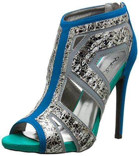 azulado mujer Glee Vestido verde Qupid de para sandalia xwZ00H7fq