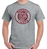 Brisco Brands Bayside Tigers Saved by The Bell 90s Funny Gift Cute Cool Gym T-Shirt Tee,Large,Sport Grey