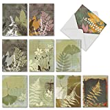 10 Assorted Note Cards with Envelopes - 'Layered