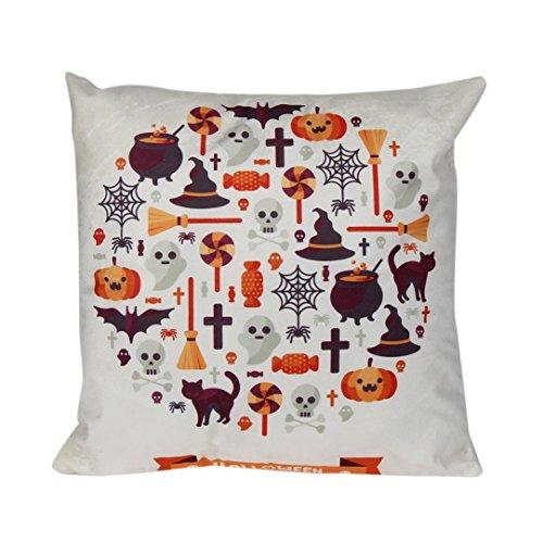 Gotd Halloween Pillow Cushion Cover Home Decor Decorations 45cm45cm18X18' (D)