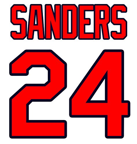 Deion Sanders Atlanta Braves Jersey Number Kit, Authentic Home Jersey Any Name or Number Available