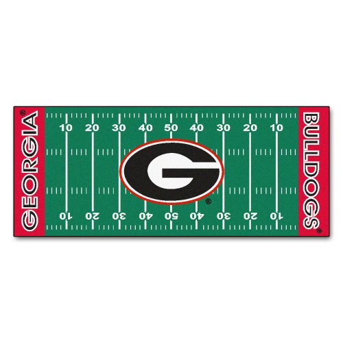 FANMATS NCAA University of Georgia Bulldogs Nylon Face Football Field Runner (Football Professional Ncaa)
