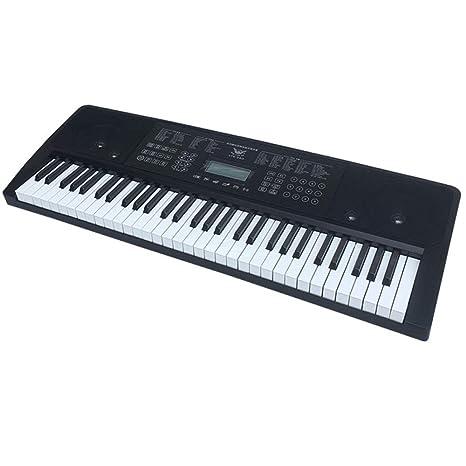 KYOKIM Teclado Electrónico De 61 Botones con Control Táctil Rendimiento Profesional De Enseñanza De Música Universal