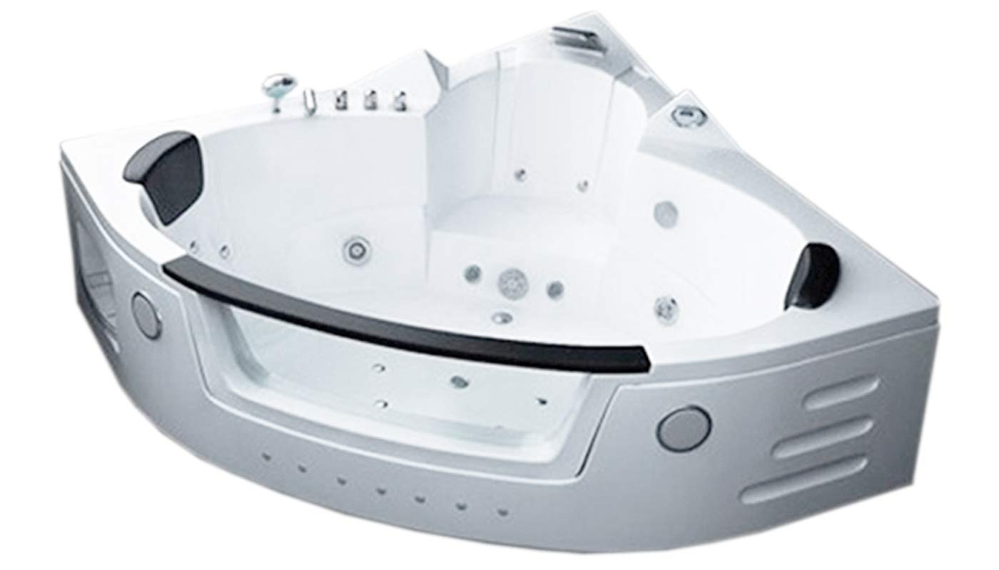 Two 2 person whirlpool massage bathtub bath tub Hydrotherapy White ...