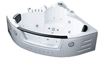 Two 2 Person Whirlpool Massage Bathtub Bath Tub Hydrotherapy White - Corner-garden-tub-and-whirlpool-from-jacuzzi