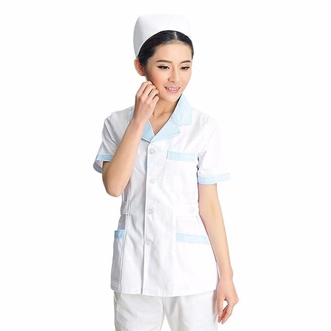 Xuanku De Manga Corta Blanco Traje, Abrigo, Ropa Del Doctor, Enfermera, De