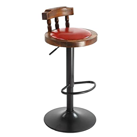 Fine Amazon Com Wooden Adjustable Bar Stools Swivel Barstool Gmtry Best Dining Table And Chair Ideas Images Gmtryco