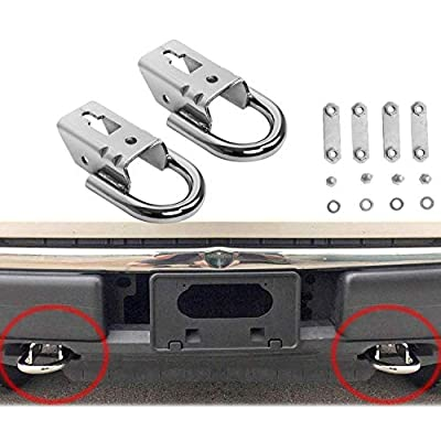 Hydraker 2 Pcs Chrome Tow Hooks for Ford F150 09-19 Trucks Genuine RHA with Mounting Hardware: Automotive