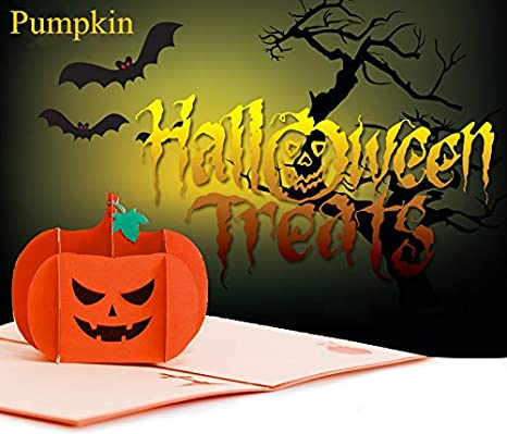 Amazon Com 4 Packed Pumpkin Pop Up Cards Invitation Cards