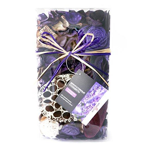 Qingbei Rina Gifts,Purple Lavender Scent Potpourri Bag,including lotus pod,Flower,Petal,Pinone,Ratten Ball,Sepa Takraw,Perfume Satchet in PVC Bags.Home Decoration.7oz. (Purple)