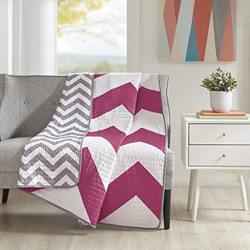 quilted throw pink - 3