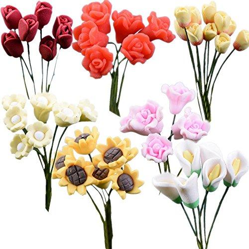 TATEELY 21 Pcs/set Miniature Flowers Fairy Garden Home Houses Decoration Mini Craft Moss Micro Landscaping Decor DIY Accessories