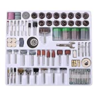 Rotary Drill, 216pcs Mini Rotary Tool Accessories Kit Polish Grind Drill Set for Around-the-House and Crafting Projects for Cutting, Grinding, Sanding, Sharpening, Carving & Polishing