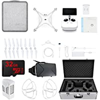 DJI Phantom 4 Pro+ Quadcopter Drone w/ Deluxe Controller CP.PT.000549 Travel Case + Virtual Reality Accessory Bundle