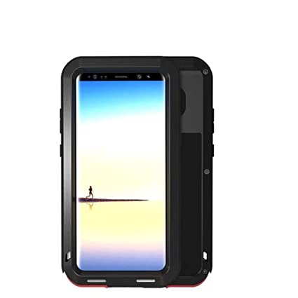 classic fit 4c2bf 439fc Galaxy Note 8 Case,LOVE MEI Outdoor Shockproof Dropproof Rainproof Aluminum  Metal Bumper Silicone Cover Case for Samsung Galaxy Note 8(Black)