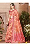 Aashima Fab Store Indian Sarees For Women Designer Wedding Partywear Pink Color In Peach Cotton Silk