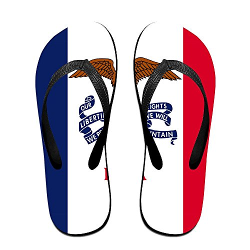 Flag Of Iowa Funny Flip Flops For Children Adults Men And Women Beach Sandals Pool Party Slippers