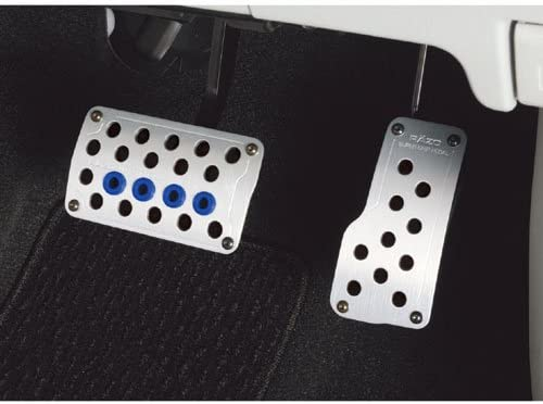 Razo RP121A Super Grip Small Silver Automatic Transmission Pedal Set 2 Piece