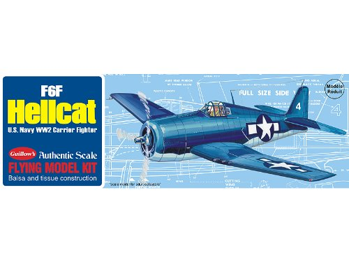 16 1//2 Wingspan Guillows 503 F6F Hellcat 1//30 Scale Model Kit