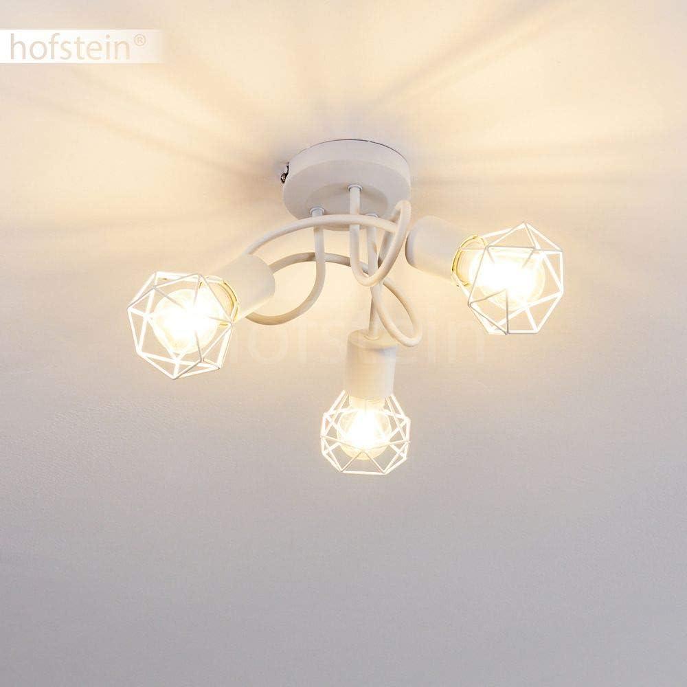 Spot im Retro//Vintage Design in Gitter-Optik m 3 x E14-Fassung Deckenleuchte Baripada 40 Watt verstellbare Deckenlampe aus Metall in Schwarz Lichteffekt an der Decke 3-flammig LED geeignet max