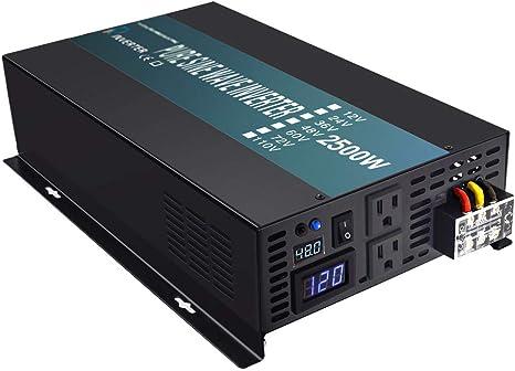 WZRELB 2500w Watt Pure Sine Wave Solar Power Inverter 48V to 120V Voltage Converter Generator Home Power Supply Car Inverter Adaptor