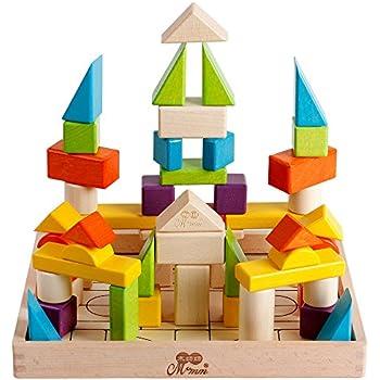 Amazon.com: Melissa & Doug Wooden Building Blocks Set