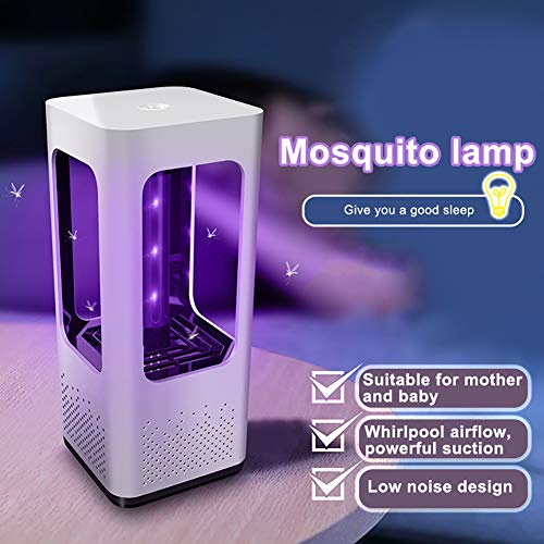 yuye-xthriv Electric LED USB Photocatalyst Mosquito Killer Fly Bug Insect Trap Zapper Lamp White