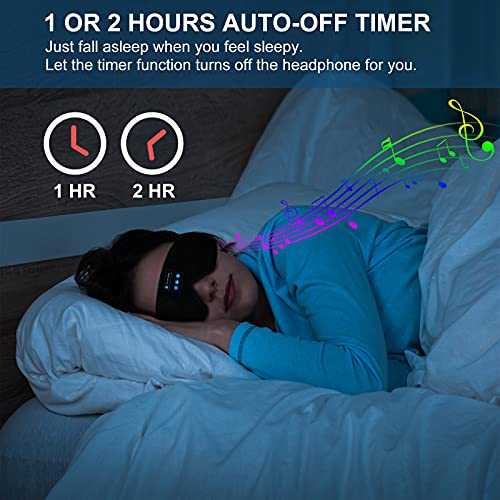 Sleep Headphones Bluetooth Sleep Mask,CHELIZI Sleeping Mask with Timer Wireless 3D Sleeping Headphones,Bluetooth 5.0 Wireless 3D Eye Mask for Travel Sleeping/Shift Work,Great Gift for Women Man