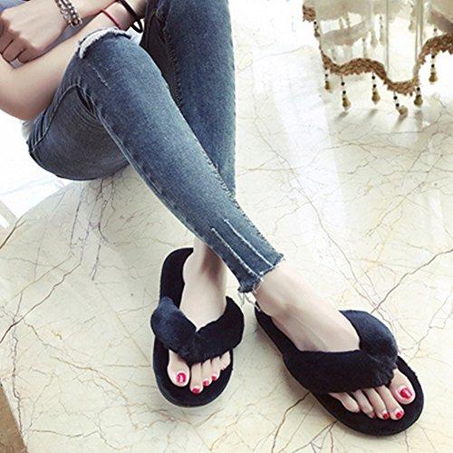 Pantofole Da Donna, Woopower Confortevole Infradito Spa Perizoma Antiscivolo Infradito Casa Scarpe Nere