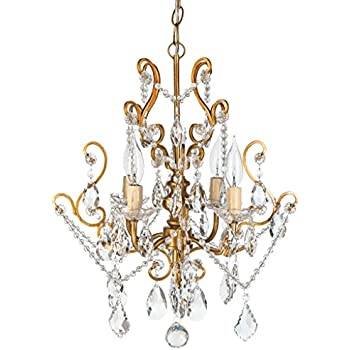 Tole Chandelier Italian Gold Iron Pendant Lamp Light Opalhouse Dining Room Decor