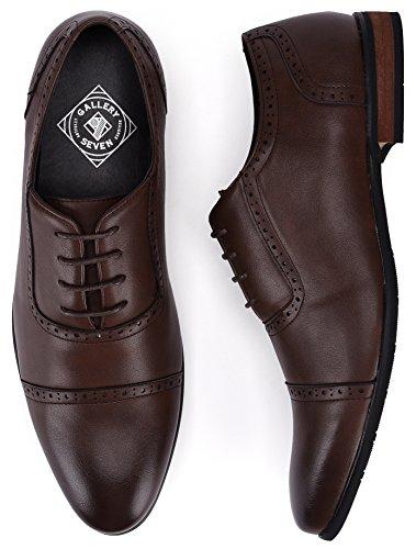 Captoe Design Oxford Shoe Chocolate Brown US-8.5D(M) | UK-41-42 | EU-8 by Gallery Seven (Image #5)
