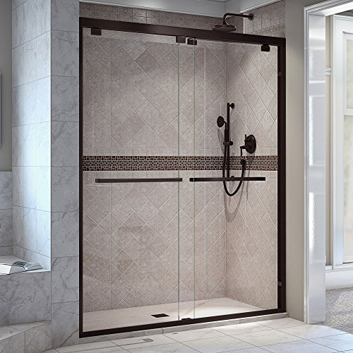 DreamLine Encore 56-60 in. Width, Frameless Bypass Sliding Shower Door, 5/16
