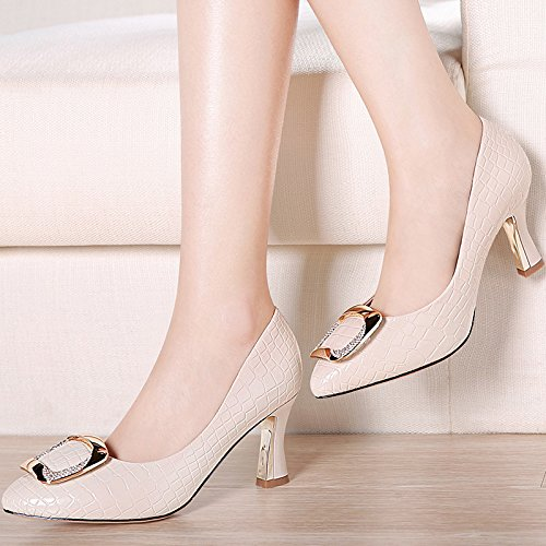 HUAIHAIZ Court Sandals Seal Heel Heels Pu Pumps Shoes High Shoes Toe Sexy High Beige president rZqItwrpx