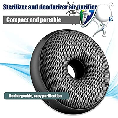 Nihewoo Portable Air Purifier Air Cleaner Home Deodorizer Filter Air Purifier Away from Other Harmful Contaminants (Black): Clothing