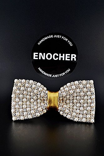 Luxury Pearl Diamond Bow Tie, Men Bow Tie, Self Tie Bow Tie, Bow Tie For Men, Handmade, Gentleman, Business, Wedding, Party, Gift, Fashion, High-end