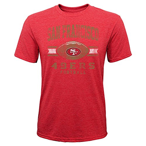 Outerstuff NFL NFL San Francisco 49ers Youth Boys Player Pride Short Sleeve Tri-Blend Tee Red, Youth Small(8)