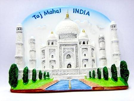 Imanes de nevera souvenir mundo Taj Mahal India indio hecho a mano ...