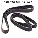 "Pro Sharpening Supplies 1""X18"" 1000 Grit Sanding Belts - 10 pack Silicon Carbide fits Ken Onion Blade Grinding Attachment"