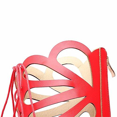 de sandalias tamaño encajes botas pesado cilindro del zapatos botas de delantero Hueco gran de altas del estudiante gules tambor alta frío de mujer soles 6USB8xqw