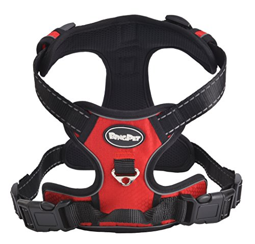 Best Front Range No-Pull Dog Harness.Reflective Outdoor Adventure Pet Vest with Handle. Large (Pitbull Red Harness compare prices)