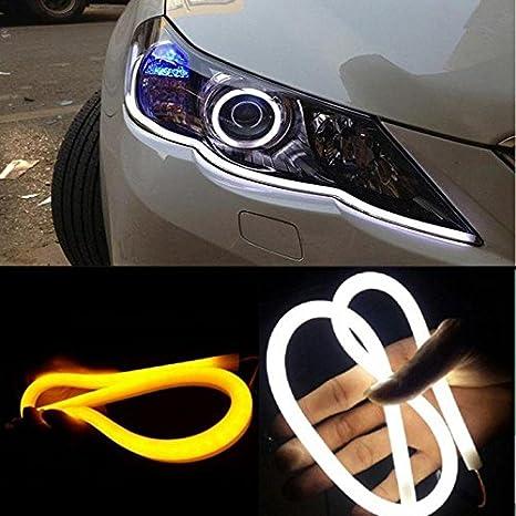 Guance 60cm Tube Audi Style White Amber Flexible Headlight