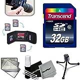 Transcend 32GB High Speed Memory Card KIT for SONY Cyber-Shot DSC-RX100 IV, RX10 II, HX90V, XW500, QX30, RX100 III, H400, H300, HX400V, QX10, QX100, RX1R, RX10, RX100 II, XH50V, XH300, NEX5T, NEW3N, H200, RX1, NEX6, NEX5R, RX100, H90, HX200V, HX30V, HX20V, HX10V, NEX5N, NEXC3, NEX7, NEX7V, HX100V, NEX5, NEX3, HX1, H50 Digital Cameras