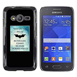 TopCaseStore / la caja del caucho duro de la cubierta de protección de la piel - Yourself Up Poster Minimalist - Samsung Galaxy Ace 4 G313 SM-G313F