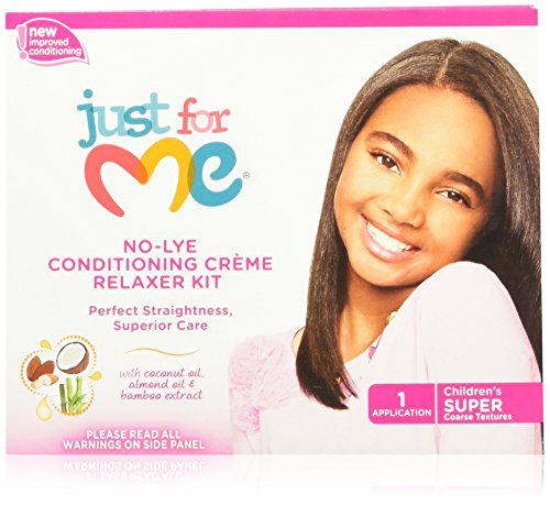 Just For Me No-lye Conditioning Creme Relaxer Super Kit -