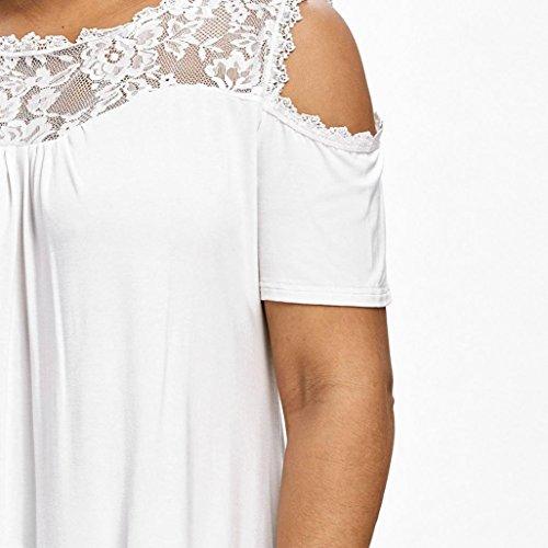 ... ❤️XL~5XL Blusa Mujer Elegante Camisetas Mujer Manga Corta Algodón Camisetas Mujer Fiesta Camisetas Sin Hombros Mujer: Amazon.es: Ropa y accesorios