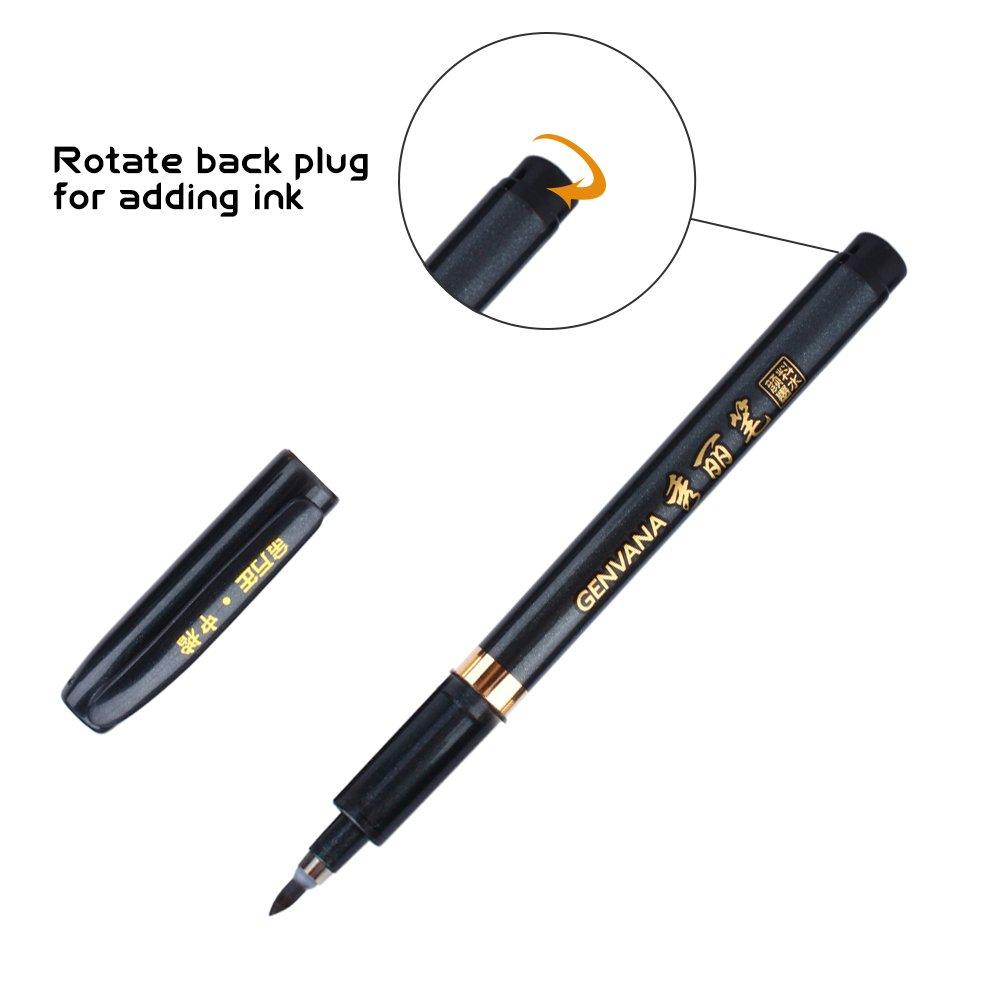 1 Set Ink Pen Chinese Japanese Calligraphy Brush Writing