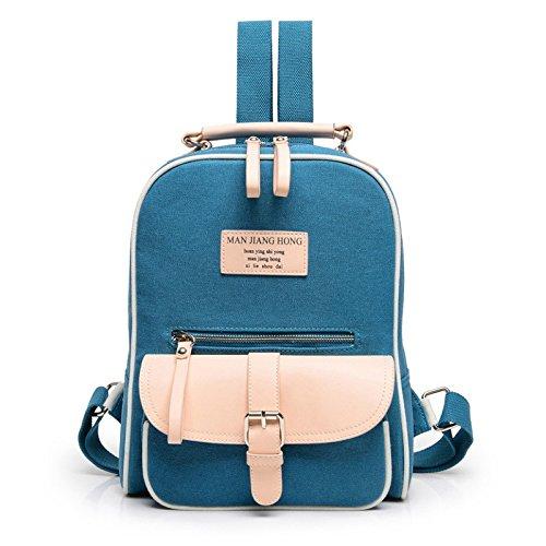 Hombro blue Bolso De Hombro Lona Hombro Otomoll Al De Negro De Bolsa 6BAxqTwfC