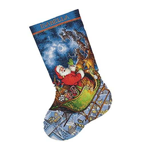 stamped cross stitch stocking