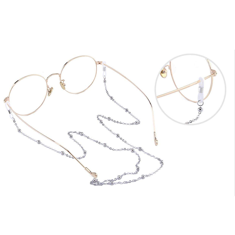 Cadena de gafas MXECO Cuello colgante Retro Cord/ón Hipster masculino Moda Mujer Gafas de sol antideslizantes Cadena Cadena de ojo Cadena de cuentas de cobre